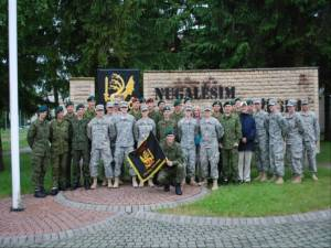 The cadets, cadre, and Lithuanian soldiers on the last day at the military base in Klaipeda, Lithuania.