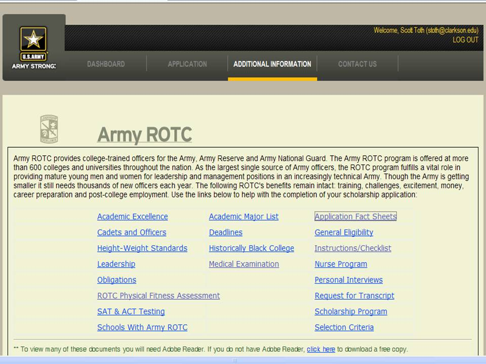 army rotc scholarship application essay Must be enrolled (or accepted) in the school's army rotc program  college scholarship essay writing tips student loans for college latest scholarship listings.