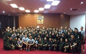 The enlisted soldiers and our team after a session of D and C.