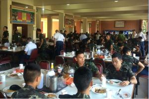 We ate every meal, breakfast lunch and dinner, with our cadets from second battalion, under second company's barracks.