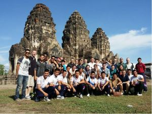 At the Monkey Temple with Thailand team 3 and our fellow Thai counterparts.